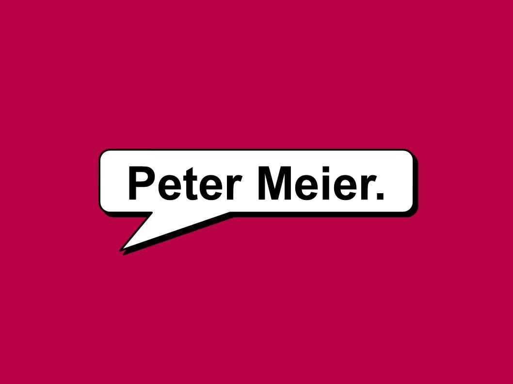 Peter Meier.