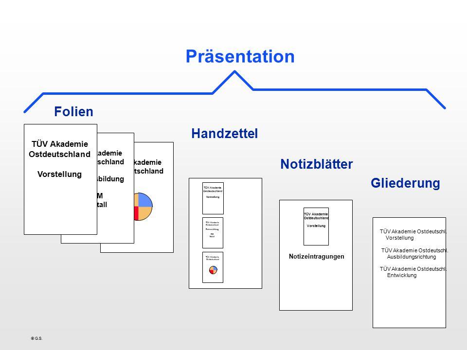 © G.S.Grundlagen l Präsentationslayout:Format und Farbskala einer Präsentation.