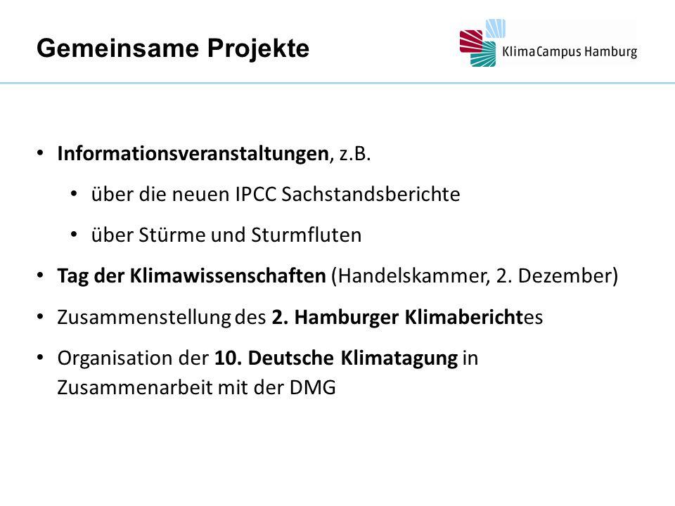 Gemeinsame Projekte Informationsveranstaltungen, z.B.