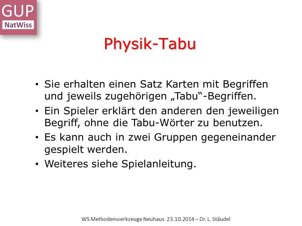 Rätsel / Kammrätsel WS Methodenwerkzeuge Neuhaus 23.10.2014 – Dr. L. Stäudel