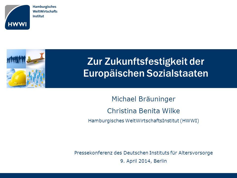 Zur Zukunftsfestigkeit der Europäischen Sozialstaaten Michael Bräuninger Christina Benita Wilke Hamburgisches WeltWirtschaftsInstitut (HWWI) Pressekon