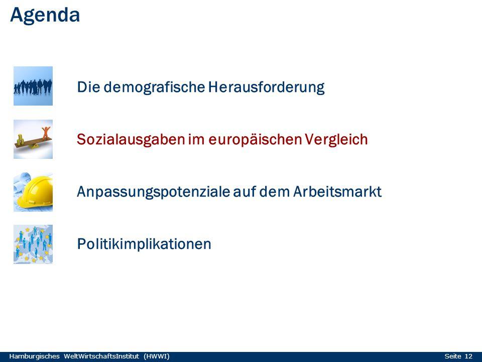 Agenda Die demografische Herausforderung Sozialausgaben im europäischen Vergleich Anpassungspotenziale auf dem Arbeitsmarkt Politikimplikationen Hambu