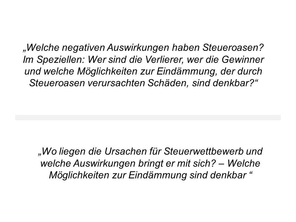 Quellen Liebert, Nicola: Steuergerechtigkeit in der Globalisierung.