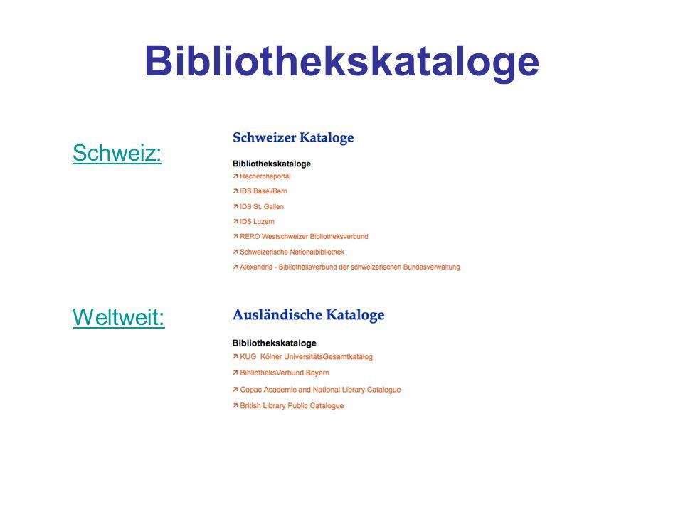 Meta-Kataloge Neben den Bibliotheksverbünden stehen auch Oberflächen zur Verfügung, die in mehreren Verbundkatalogen im In- und Ausland suchen.