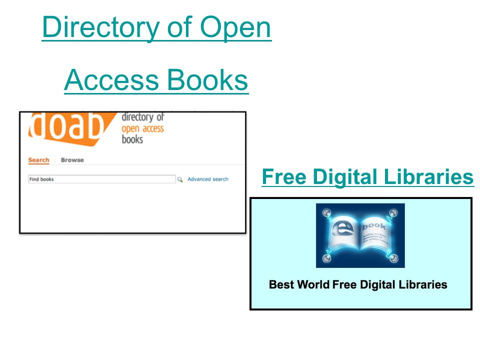 Directory of Open Access Books   Free Digital Libraries