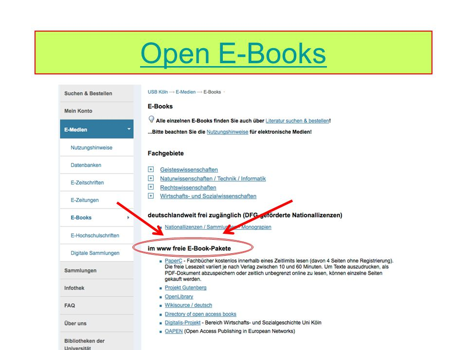 Open E-Books
