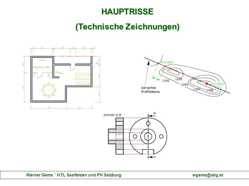 Werner Gems * HTL Saalfelden und PH Salzburg wgems@sbg.at HAUPTRISSE (Technische Zeichnungen)