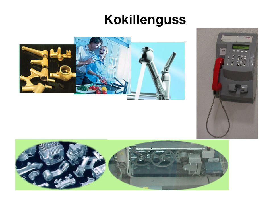 Druckguss Beim Druckgiessen wird das flüssige Metall mit Druck in eine Stahlkokille gepresst.