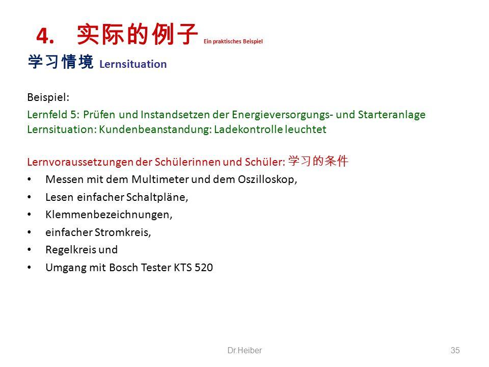 学习情境 Lernsituation Beispiel: Lernfeld 5: Prüfen und Instandsetzen der Energieversorgungs- und Starteranlage Lernsituation: Kundenbeanstandung: Ladekon