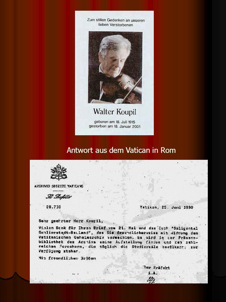 Antwort aus dem Vatican in Rom