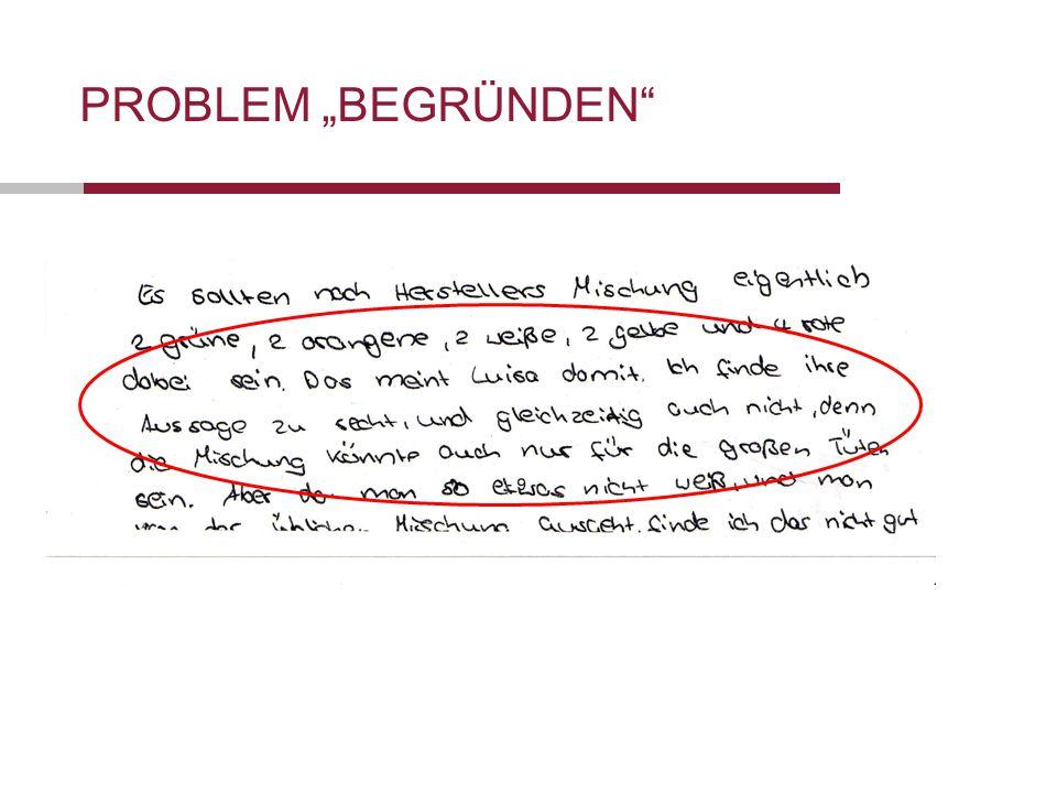 """Folie 33 Förderung der Selbständigkeit von Schülerinnen und Schülern Datum 19.10.2011 PROBLEM """"BEGRÜNDEN"""
