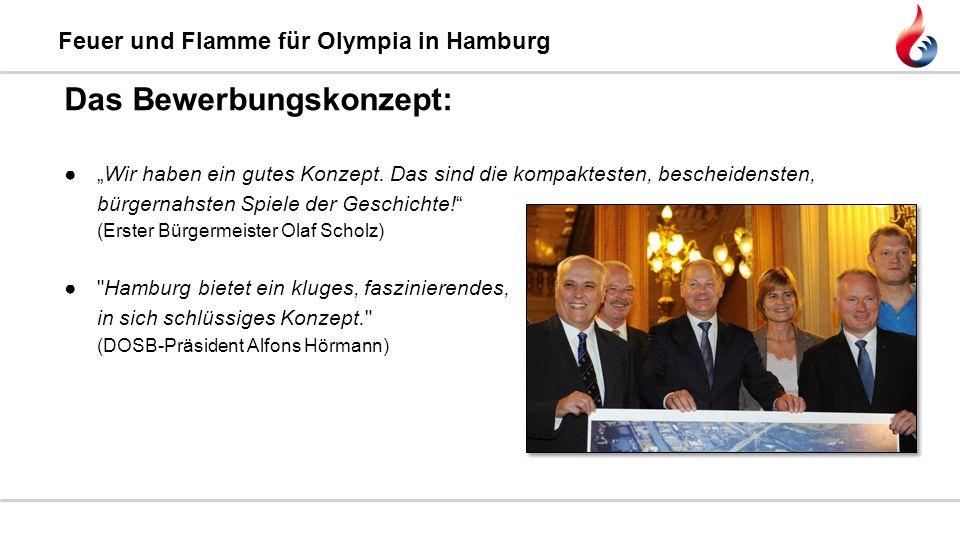"""Feuer und Flamme für Olympia in Hamburg ●""""Wir haben ein gutes Konzept. Das sind die kompaktesten, bescheidensten, bürgernahsten Spiele der Geschichte!"""