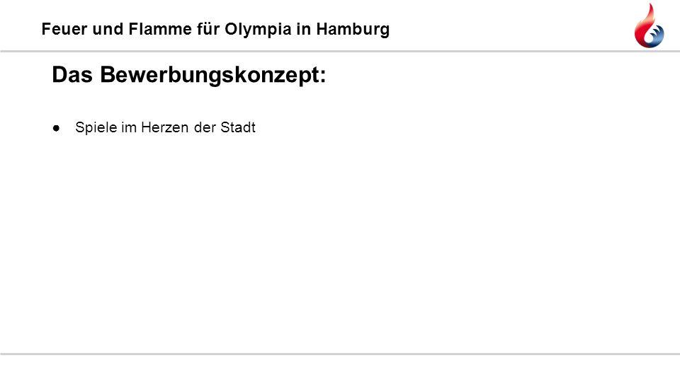 Feuer und Flamme für Olympia in Hamburg ●Spiele im Herzen der Stadt Das Bewerbungskonzept:
