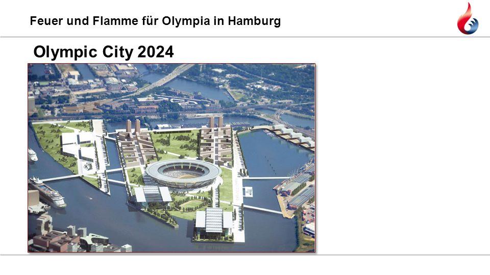 Feuer und Flamme für Olympia in Hamburg Olympic City 2024