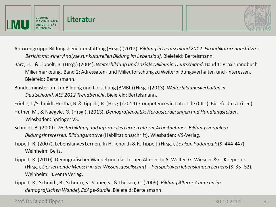 Literatur Autorengruppe Bildungsberichterstattung (Hrsg.) (2012). Bildung in Deutschland 2012. Ein indikatorengestützter Bericht mit einer Analyse zur
