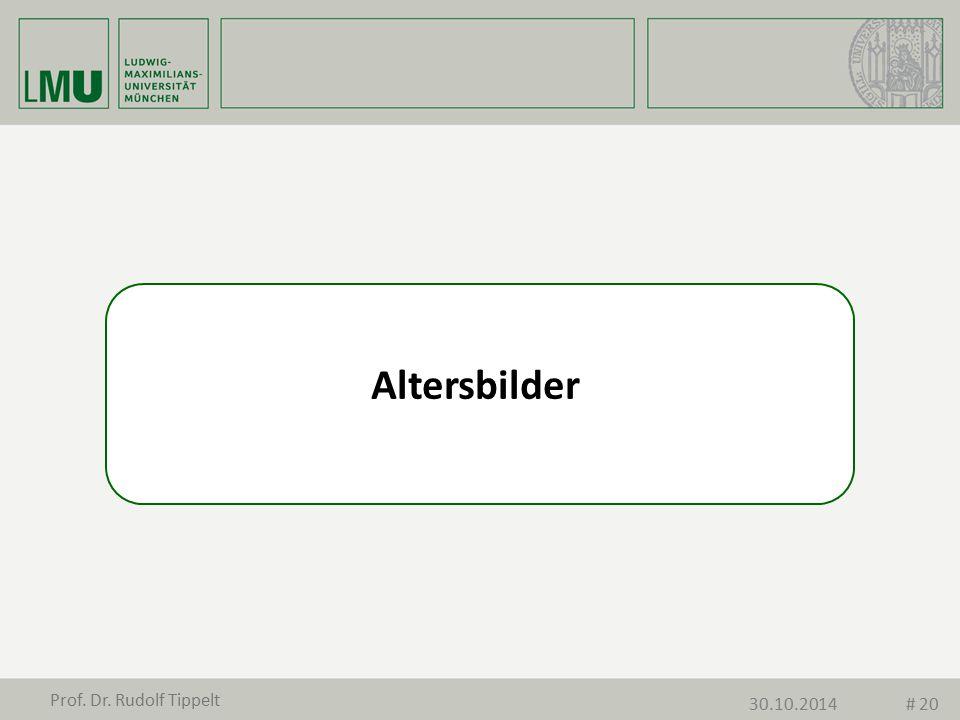 Altersbilder Prof. Dr. Rudolf Tippelt 30.10.2014# 20