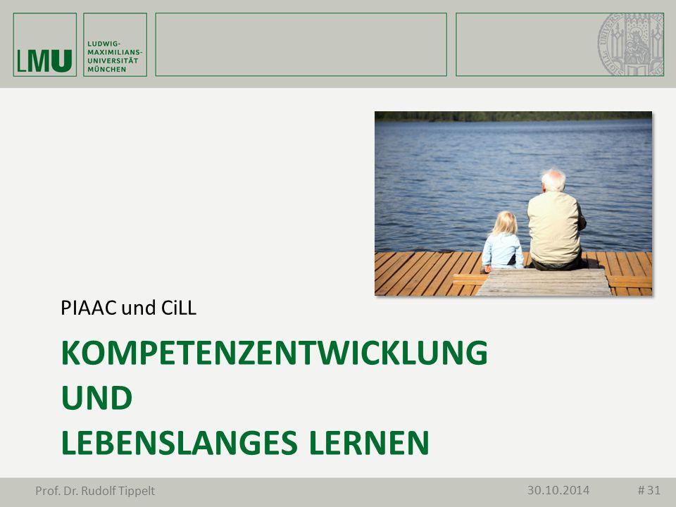 KOMPETENZENTWICKLUNG UND LEBENSLANGES LERNEN PIAAC und CiLL 30.10.2014 Prof. Dr. Rudolf Tippelt # 31