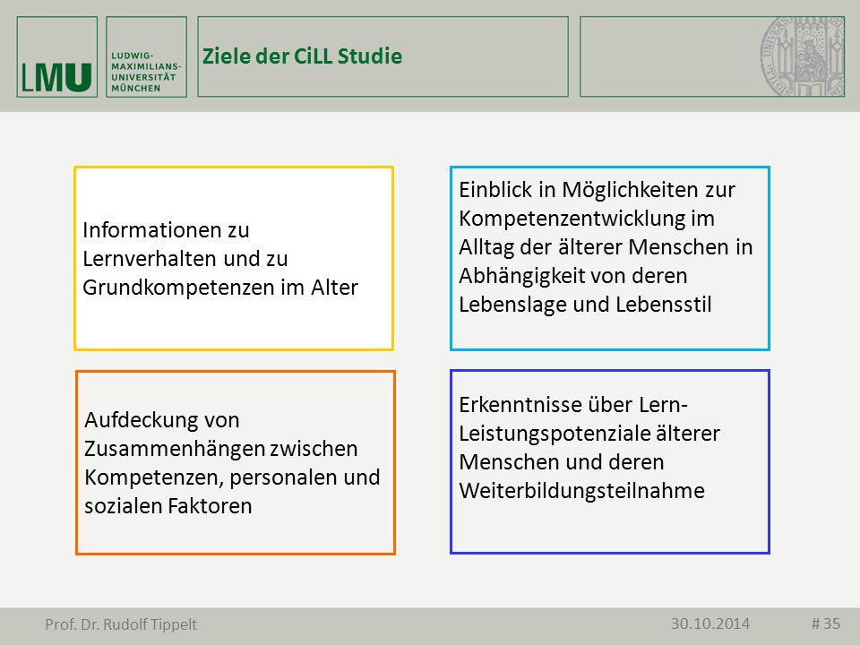 Aufdeckung von Zusammenhängen zwischen Kompetenzen, personalen und sozialen Faktoren Informationen zu Lernverhalten und zu Grundkompetenzen im Alter E