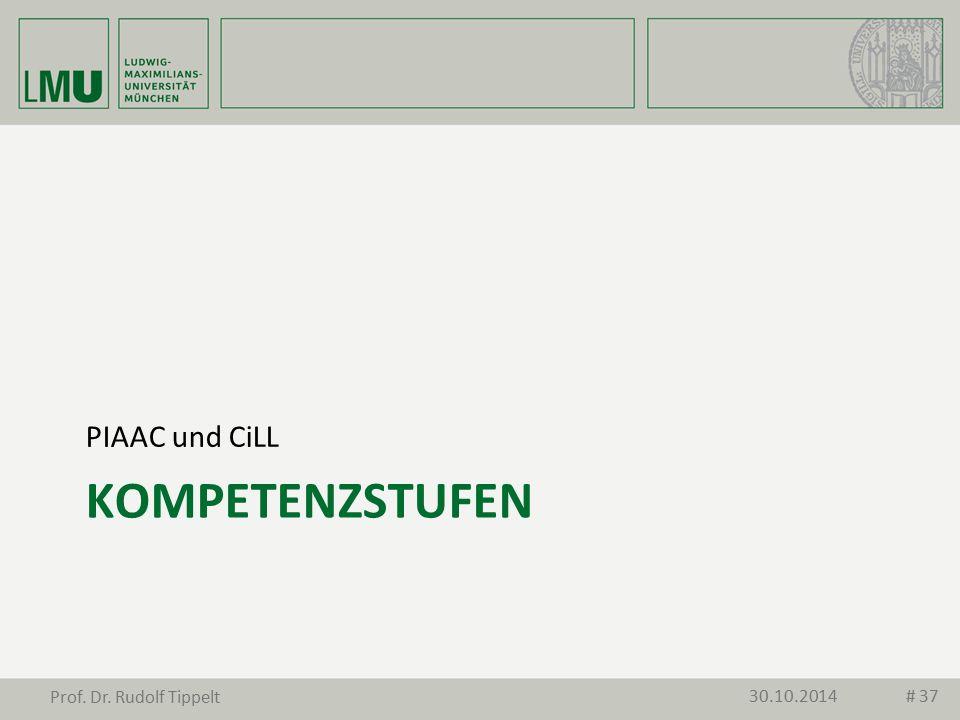 KOMPETENZSTUFEN PIAAC und CiLL 30.10.2014 Prof. Dr. Rudolf Tippelt # 37