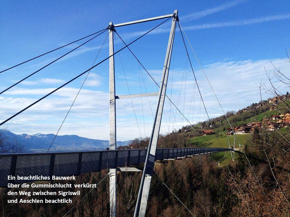 Ein beachtliches Bauwerk über die Gummischlucht verkürzt den Weg zwischen Sigriswil und Aeschlen beachtlich