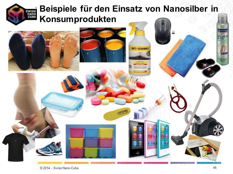 © 2014 - Swiss Nano-Cube Beispiele für den Einsatz von Nanosilber in Konsumprodukten 46