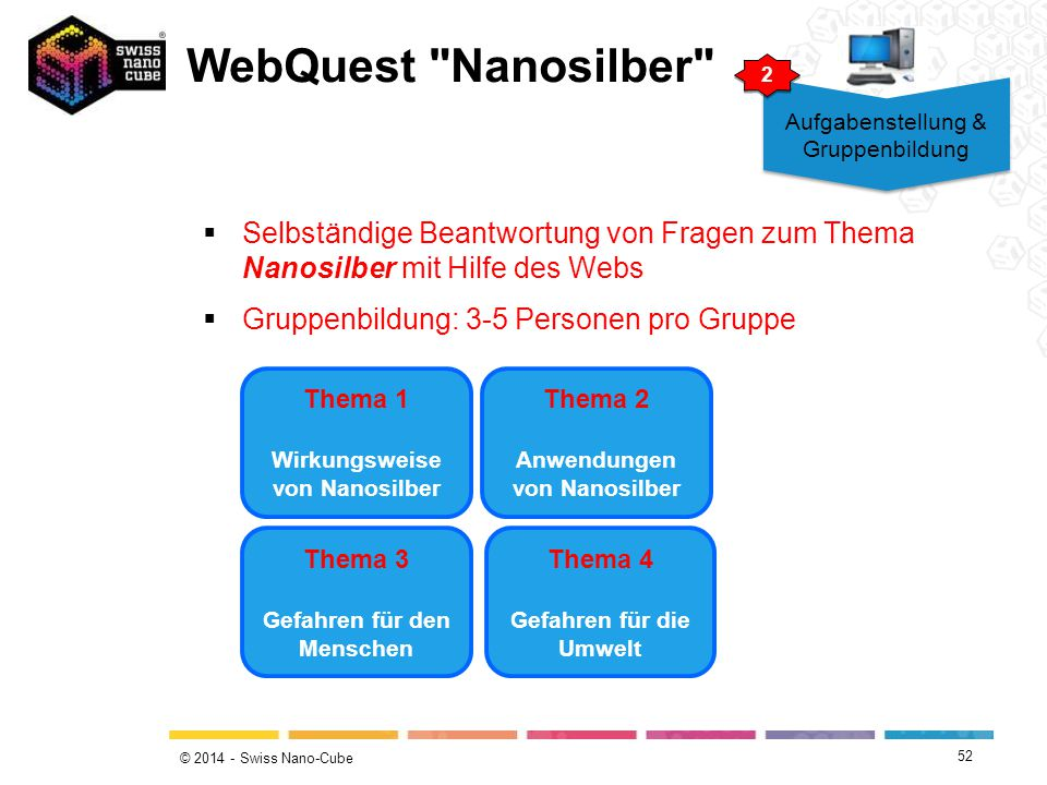 © 2014 - Swiss Nano-Cube WebQuest