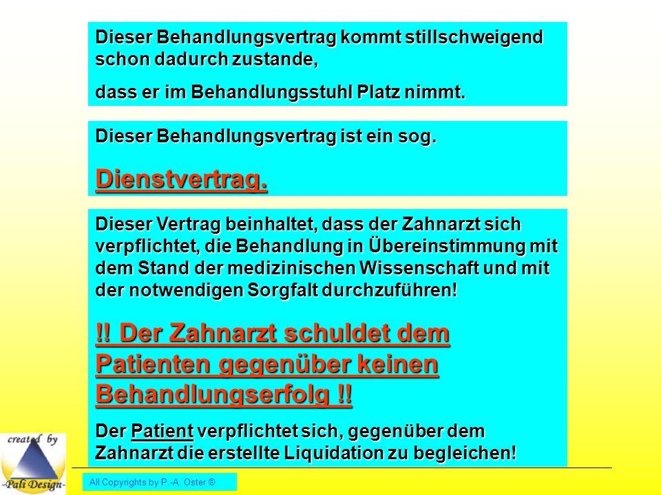 All Copyrights by P.-A.Oster ® Vergütungsvereinbarung gemäß § 2 Abs.