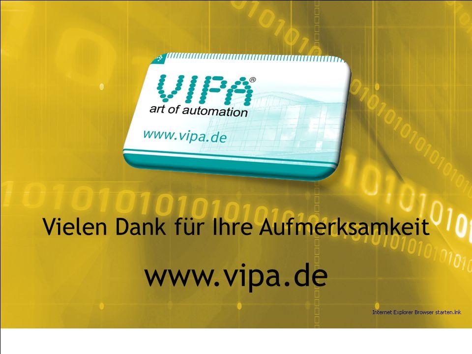 VIPA System 100V | Juli 2010 Vielen Dank für Ihre Aufmerksamkeit www.vipa.de