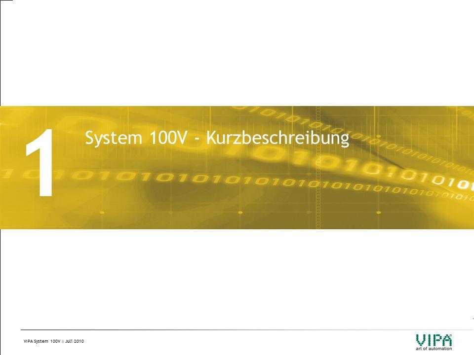 VIPA System 100V | Juli 2010 1 System 100V - Kurzbeschreibung