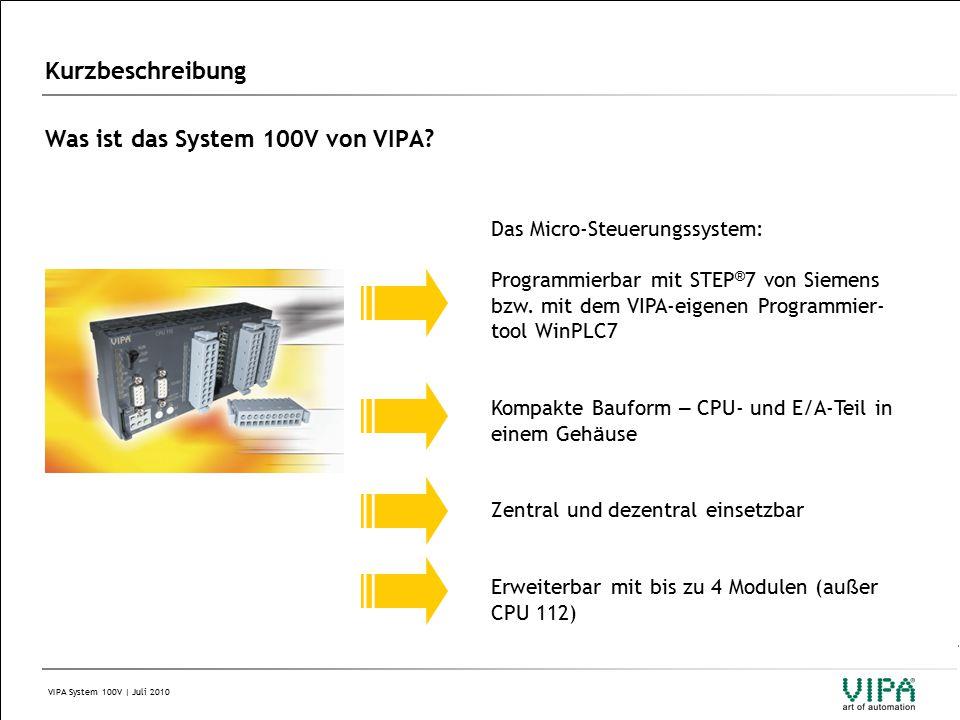 VIPA System 100V | Juli 2010 2 Aufbau