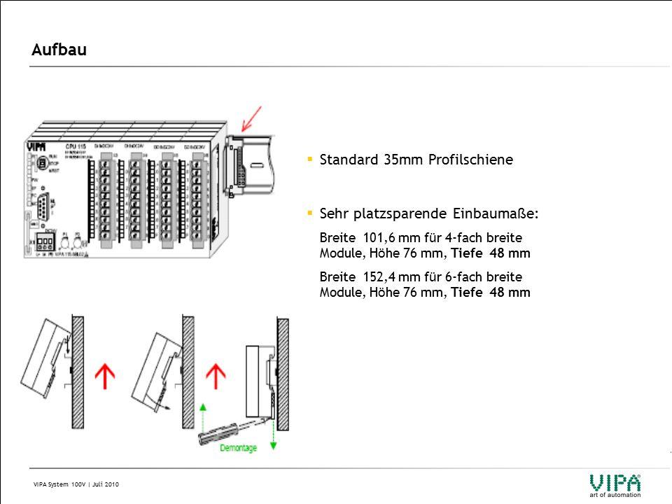 VIPA System 100V | Juli 2010 Systemkomponenten: 4.3 Slave Module (Slaves sind nicht erweiterbar) Feldbus-Slave-Module mit E/As - DI Feldbus-Slave-Module mit E/As - DO Feldbus-Slave-Module mit E/As - DIO (f ü r Profibus bzw.