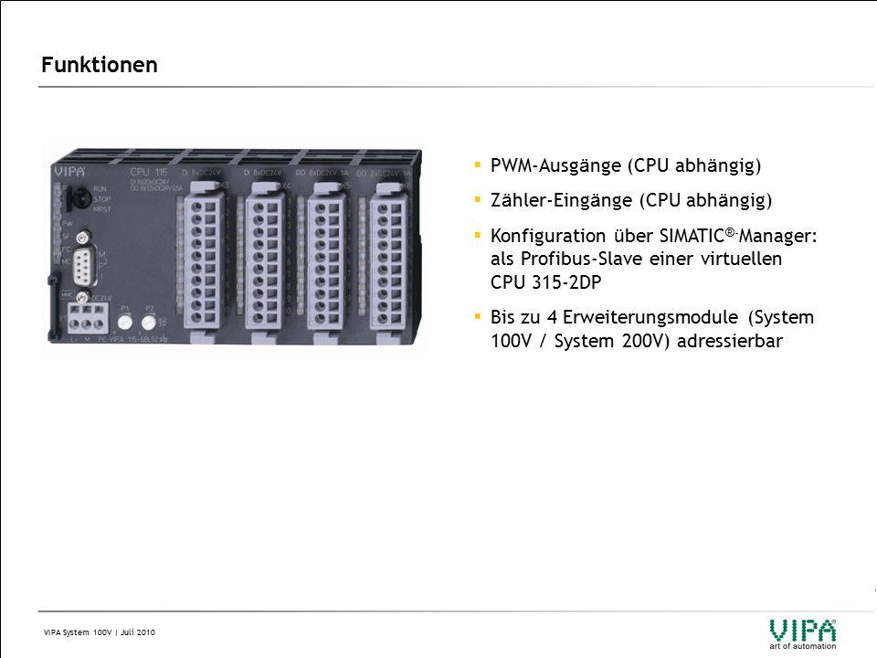 VIPA System 100V | Juli 2010 4 Systemkomponenten 4.1 CPU 4.2 Erweiterungsmodule 4.3 Slave Module 4.4 Zubeh ö r