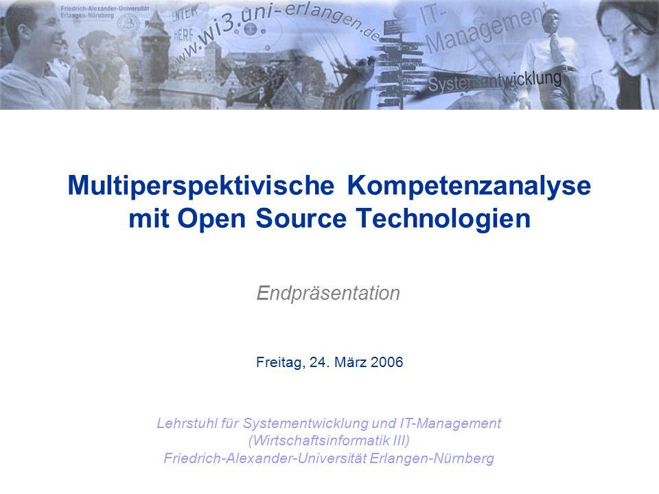12 Alexander Müller Implementierungsprozess: Evolutionäres Prototyping Schrittweises erweitern der Funktionalität, abhängig vom Feedback der Nutzer.
