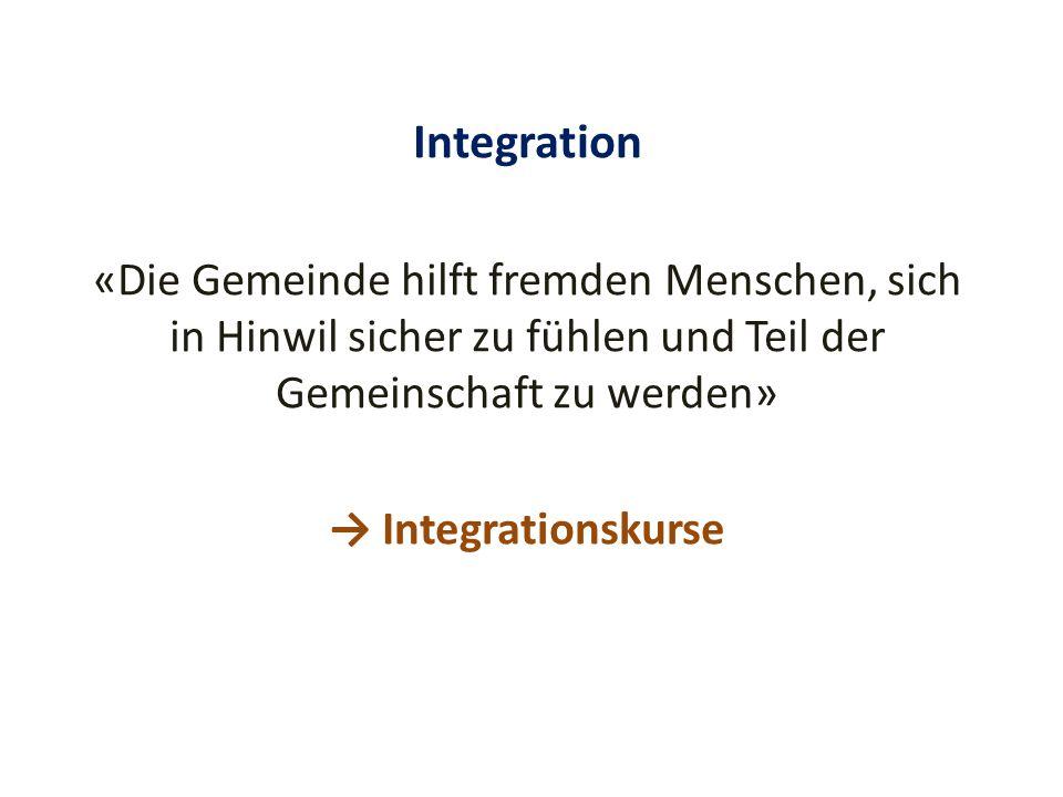 Integration «Die Gemeinde hilft fremden Menschen, sich in Hinwil sicher zu fühlen und Teil der Gemeinschaft zu werden» → Integrationskurse