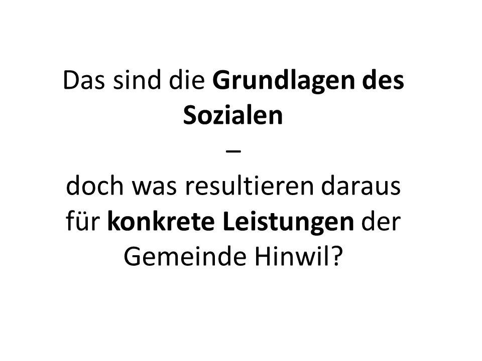 Das sind die Grundlagen des Sozialen – doch was resultieren daraus für konkrete Leistungen der Gemeinde Hinwil?