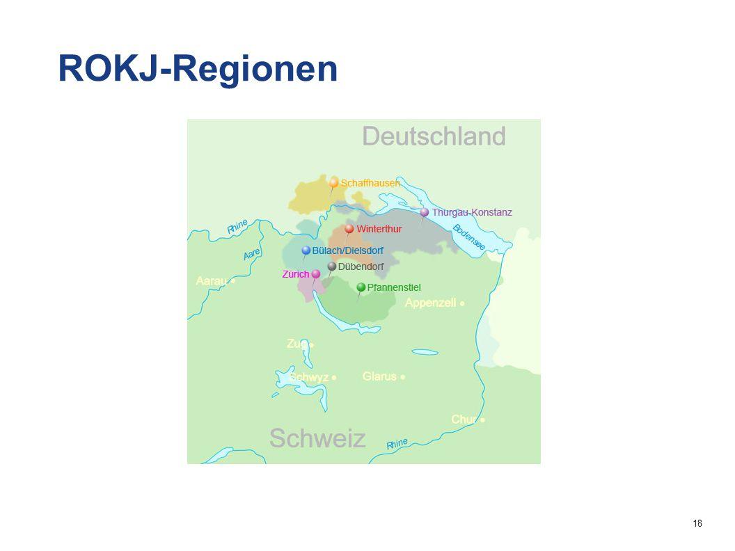18 ROKJ-Regionen