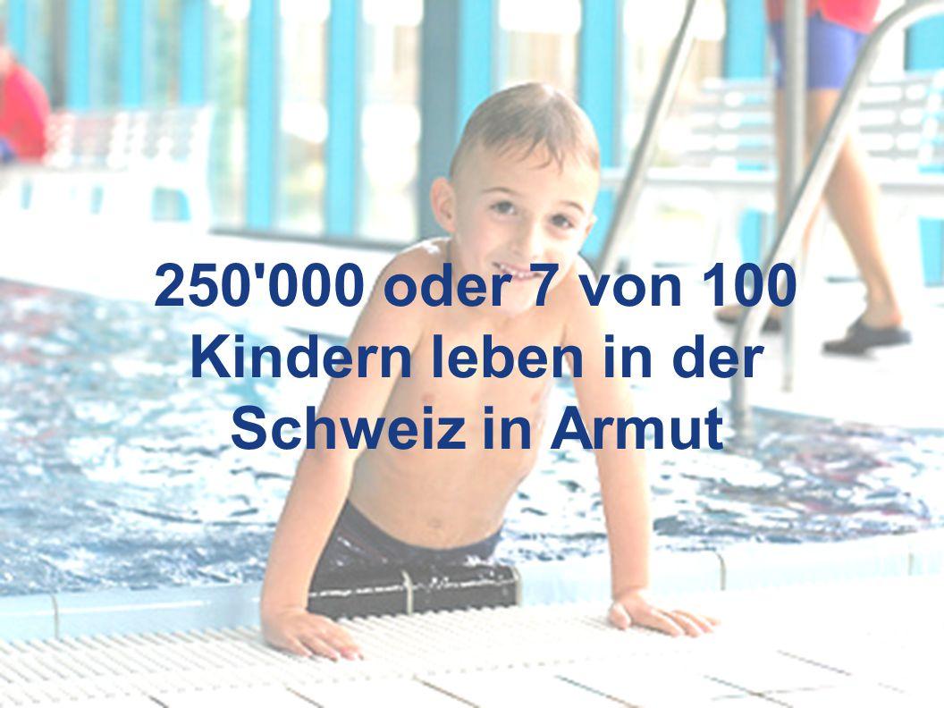 3 250 000 oder 7 von 100 Kindern leben in der Schweiz in Armut