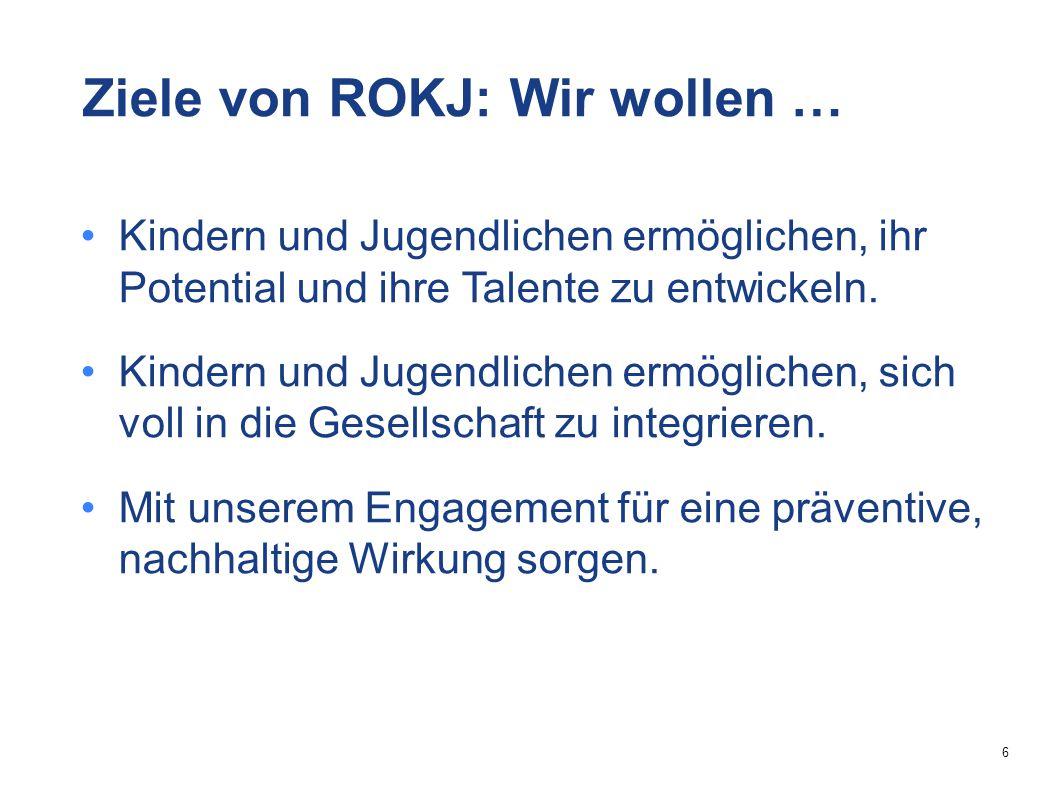 6 Ziele von ROKJ: Wir wollen … Kindern und Jugendlichen ermöglichen, ihr Potential und ihre Talente zu entwickeln.
