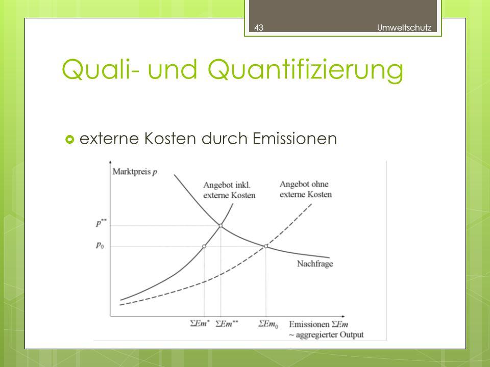 Quali- und Quantifizierung  externe Kosten durch Emissionen 43Umweltschutz
