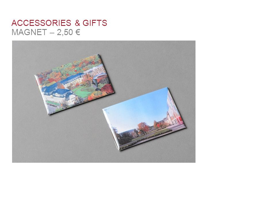 ACCESSORIES & GIFTS MAGNET – 2,50 €