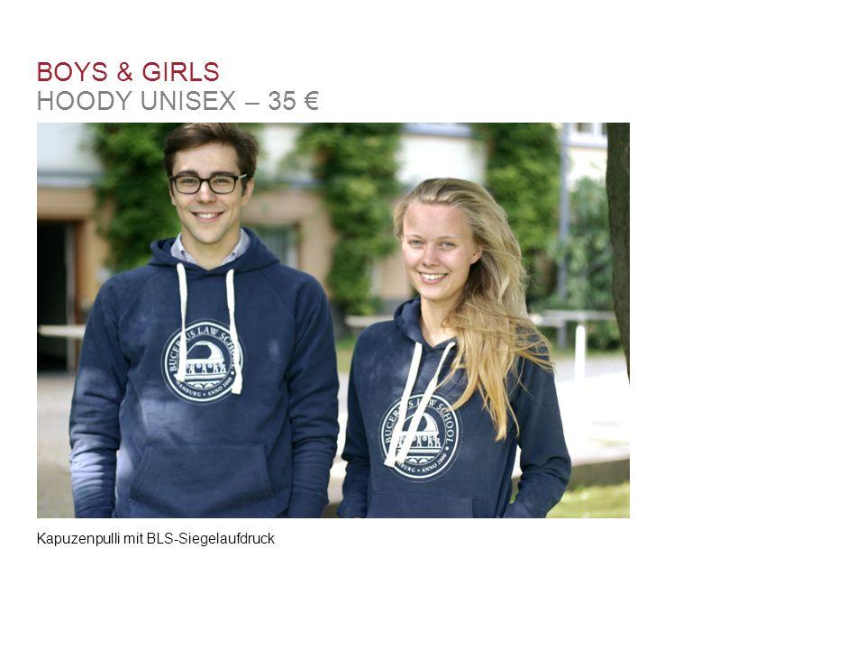 Kapuzenpulli mit BLS-Siegelaufdruck BOYS & GIRLS HOODY UNISEX – 35 €