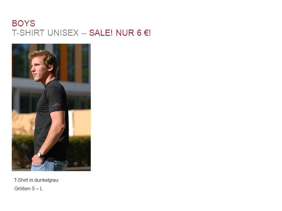 T-Shirt in dunkelgrau Größen S – L BOYS T-SHIRT UNISEX – SALE! NUR 6 €!