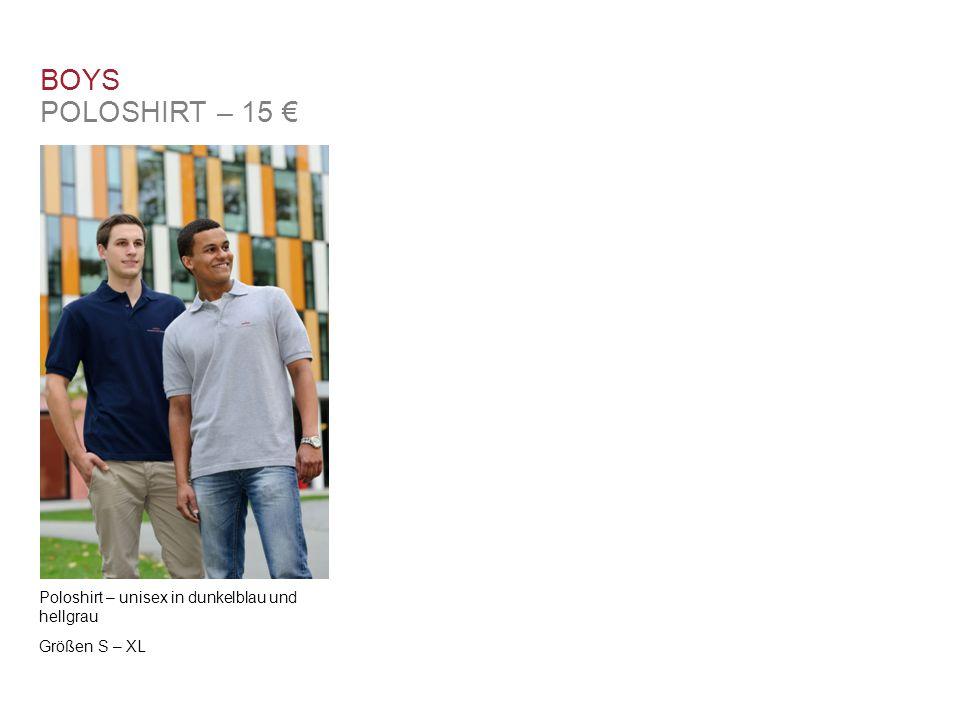 BOYS POLOSHIRT – 15 € Poloshirt – unisex in dunkelblau und hellgrau Größen S – XL
