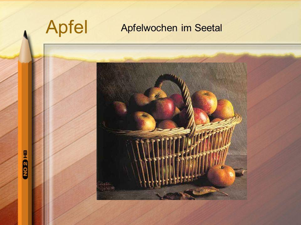 Apfel Apfelwochen im Seetal