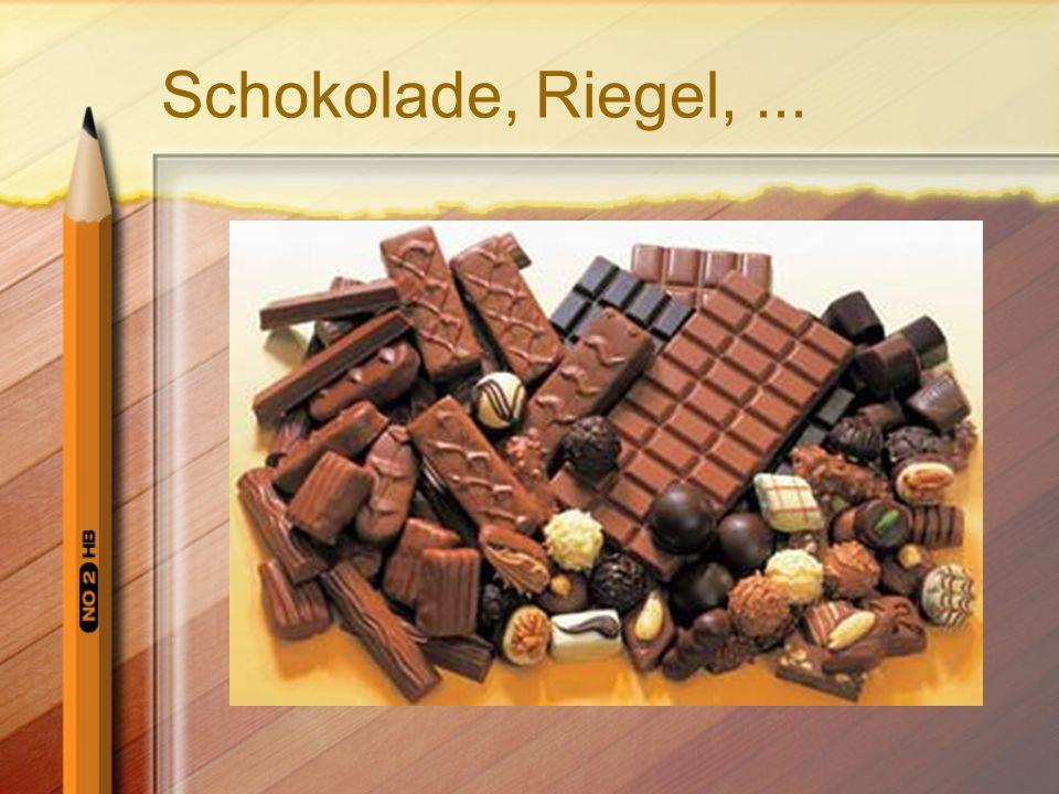 Schokolade, Riegel,...