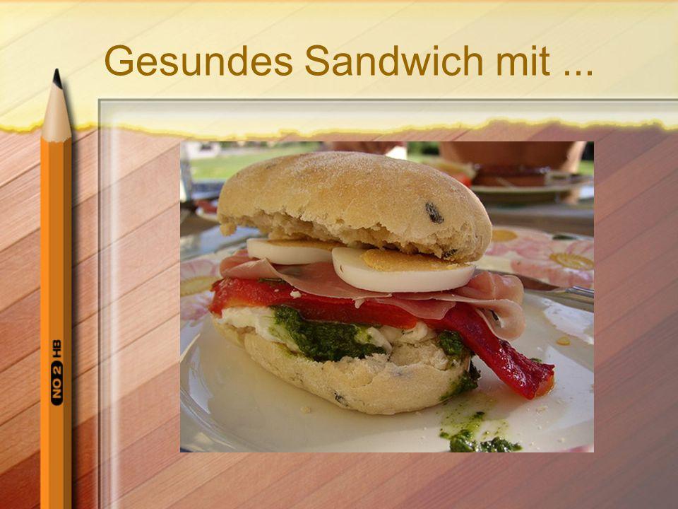 Gesundes Sandwich mit...