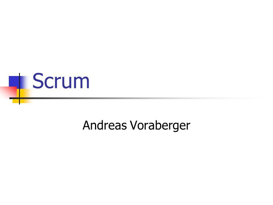 Inhalt Einführung Definition Ablauf Scrum Rollen Scrum Master Product Owner Scrum Team