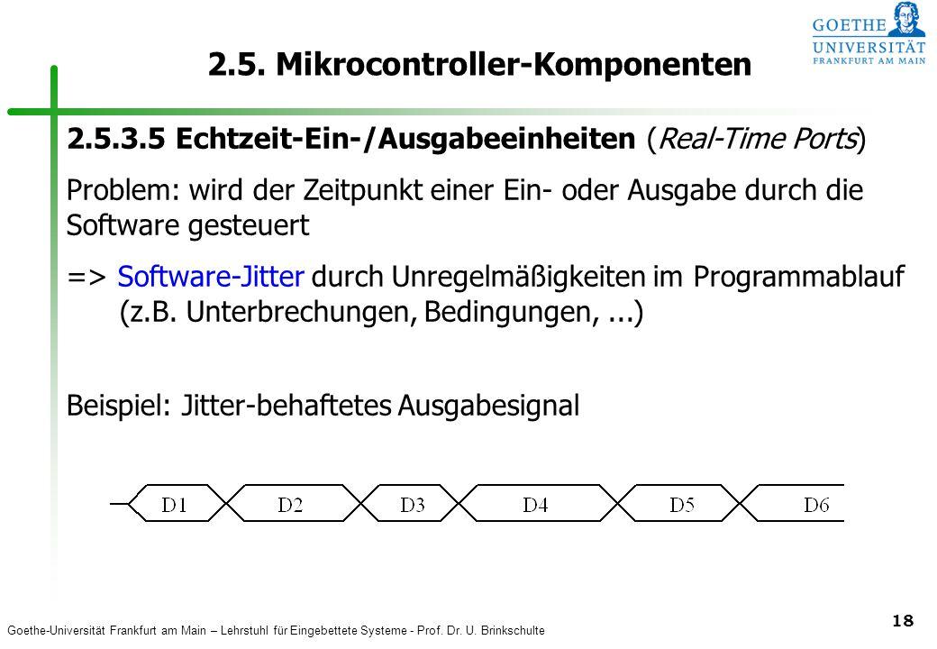 Goethe-Universität Frankfurt am Main – Lehrstuhl für Eingebettete Systeme - Prof. Dr. U. Brinkschulte 18 2.5. Mikrocontroller-Komponenten 2.5.3.5 Echt