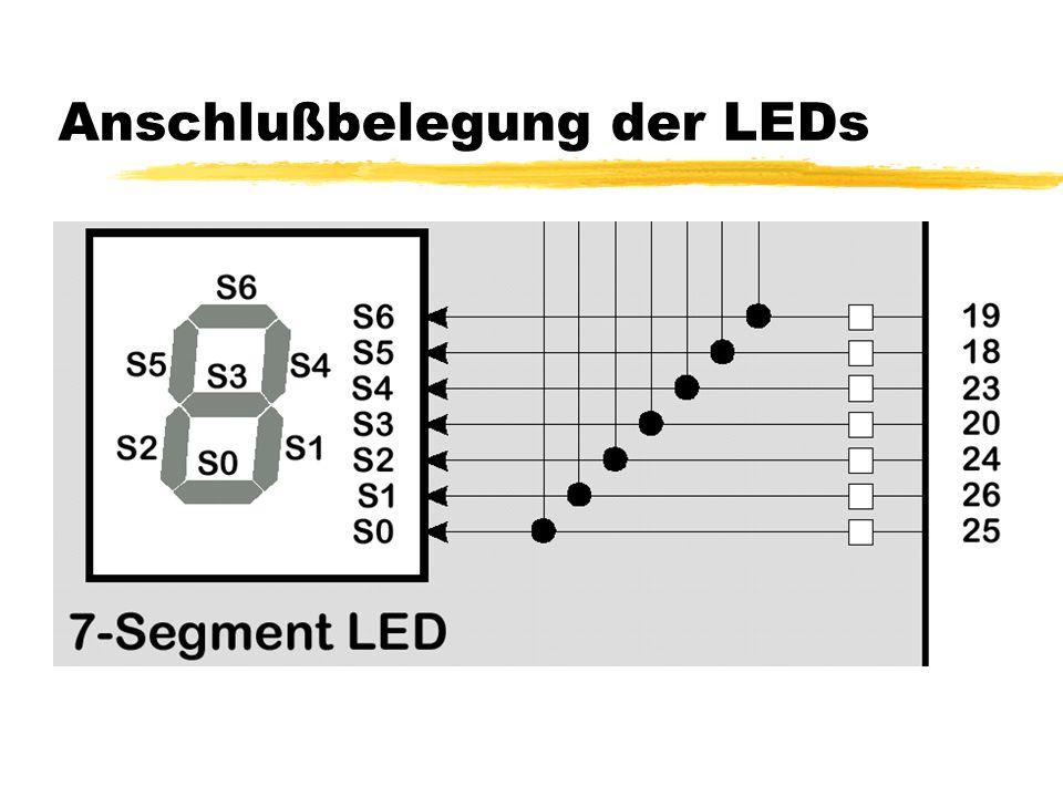 Anschlußbelegung der LEDs