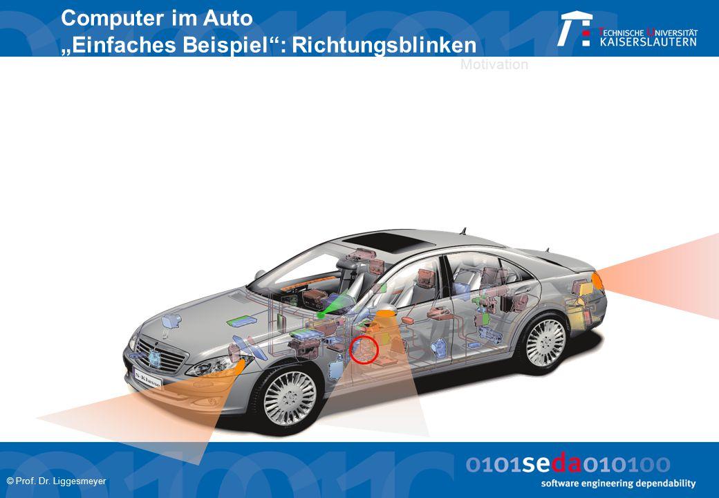 """© Prof. Dr. Liggesmeyer Motivation Computer im Auto """"Einfaches Beispiel : Richtungsblinken"""
